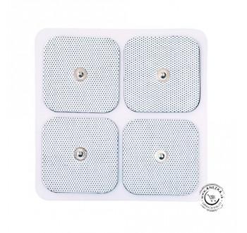 Samolepiace elektródy okrúhle 50 mm (4 ks) na TENS prístroj - pripínačkové napájanie