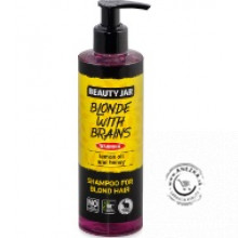 Šampón na blond vlasy s dávkovačom (Blonde with brains) 250ml, Beauty Jar