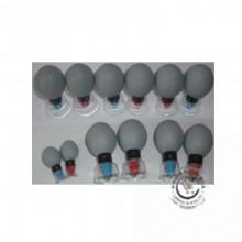 Magnetické akupresúrne sacie banky 12 ks