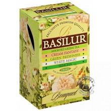 Zelený porciovaný čaj - Assorted Green Bouquet 4x5x1,5g Basilur