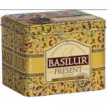 Sypaný čierny čaj - Present Gold plech 100g, Basilur