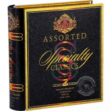 Porciované čierne a zelené čaje - Book Assorted Specialty plech 60g, Basilur