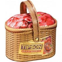 Čierny sypaný čaj - Basket - malina plech 100g, Tipson