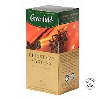 Porciovaný čierny čaj - Christmas Mystery 25x1,5g, Greenfield