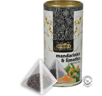 Čierny čaj - mandarínka a limetka 15x1,5g