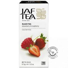 Čierny porciovaný čaj - jahoda a malina 25x1,5g, Jaftea