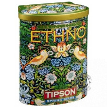 Zelený sypaný čaj - Ethno Spring Birds plech 100g, TIPSON