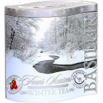 Sypaný čierny čaj - Four Seasons Winter Tea plech 100g, Basilur