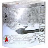 Sypaný čierny čaj - Four Seasons Winter Tea plech 100g, Basilur