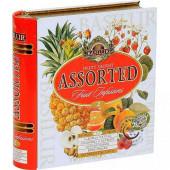 Porciované ovocné čaje - Fruit Infusions Book Fruity Delight plech 32x1,8g, Basilur