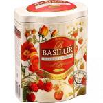 Ovocný sypaný čaj - Fruit Strawberry & Raspberry plech 100g, Basilur
