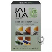 Zelený porciovaný čaj - Green & Oolong Tea 20x2g, Jaftea