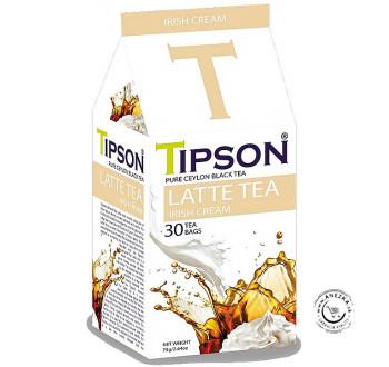 Porciovaný čierny čaj - Latte tea Irish Cream 30x2,5g, Tipson
