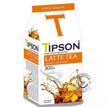 Porciovaný čierny čaj - Latte tea Maple Nougat 30x2,5g, Tipson