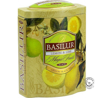Čierny sypaný čaj - Magic Lemon & Lime plech 100g, Basilur