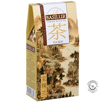 Čierny sypaný čaj - Chinese Pu-Erh papier 100g, Basilur