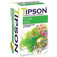 BIO porciovaný bylinný čaj - Slim Tea 20x1,3g, Tipson EXP 07/04/2021