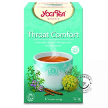 THROAT COMFORT (ÚĽAVA HRDLA) – Ajurvédsky bylinný čaj porciovaný BIO 17×1,9g