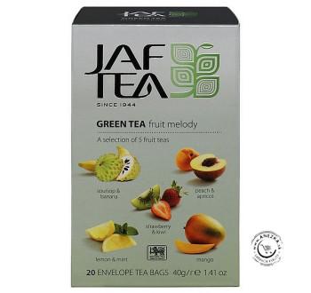 Zelený porciovaný čaj - Green Fruit Melody 40g, Jaftea