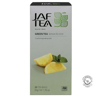 Zelený porciovaný čaj - citrón a mäta 25x2g, Jaftea