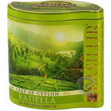 Zelený sypaný čaj - Leaf of Ceylon Radella plech 100g, Basilur