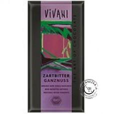 Horká čokoláda s lieskovými orieškami BIO - 100g, VIVANI