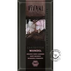 Horká čokoláda s mandľami BIO - 100g, VIVANI