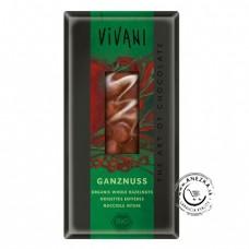 Mliečna čokoláda s lieskovými orieškami BIO - 100g, VIVANI