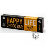 Chrumkavá čokoládová tyčinka s banánom BIO 35g, Happy Life