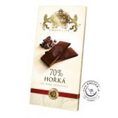 Horká 70% čokoláda 80g, CARLA