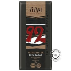 Horká čokoláda 92% BIO - 80g, VIVANI