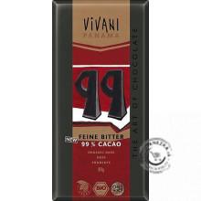 Horká čokoláda 99% BIO - 80g, VIVANI