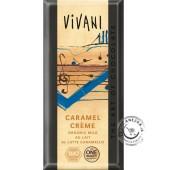 Mliečna čokoláda s karamelovou náplňou 37% BIO - 100g, VIVANI