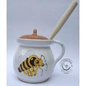 Nádoba na med - biela