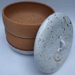 Keramická miska na klíčenie - biela- naklíčovacia keramika