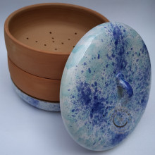 Miska na klíčenie - modro-tyrkysová