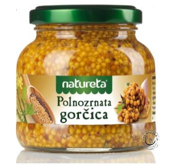 Celozrnná horčica 190g, Natureta