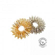 Akupresúrny masážny prsteň zlatej farby (11003- žltý) SUJOK