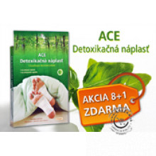 AKCIA 8+1 ACE Detoxikačné náplasti (celkom 72 náplastí) EXP 28/02/2021