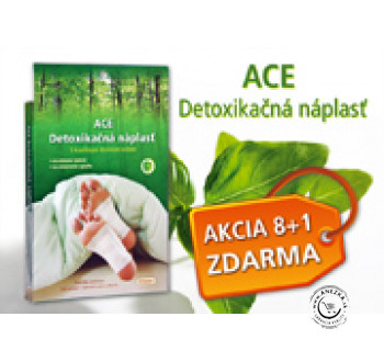 AKCIA 8+1 ACE Detoxikačné náplasti (celkom 72 náplastí) EXP 31/02/2021