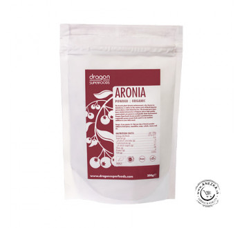 Arónia prášok BIO - 200 g, Dragon Superfoods