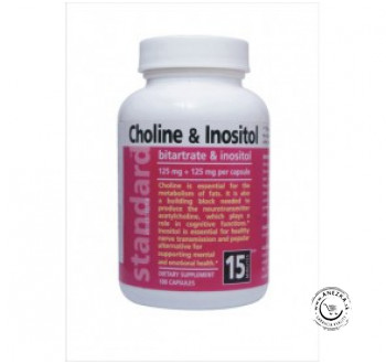 Cholín a Inozitol 125 mg / 125 mg, 100 kapsúl NATURAL