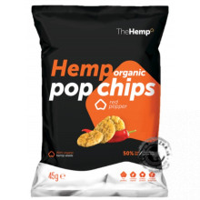 Konopné BIO pop chips - paprikové 45g, The Hemp EXP 28/07/2019