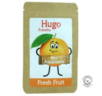 Žuvačky bez aspartamu - Fresh Fruit 9g, Hugo